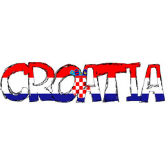Croatia Flag Text