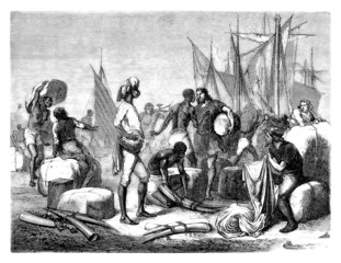 Europeans trading with Africans - 16th century