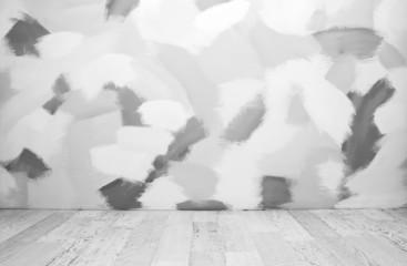 Empty black and white interior