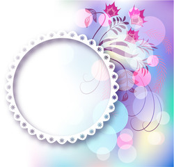Photo frame and floral ornament