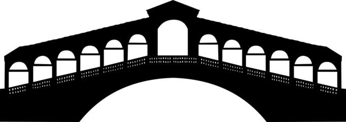 Obraz Rialto bridge in Grand canal in Venice, Italy silhouette - fototapety do salonu