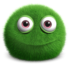 Papiers peints Doux monstres green furry monster