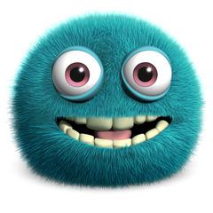 Spoed Fotobehang Sweet Monsters blue alien