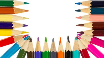 Multicolored pencils isolated
