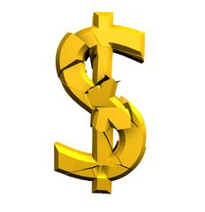Dollar cassé