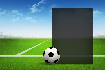 Soccer abstract background with page presentation