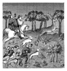 15th century : Deer Hunt - Chasse Cerf - Jagd Hirsch