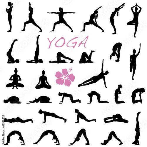 yoga bungen vektor set stockfotos und lizenzfreie. Black Bedroom Furniture Sets. Home Design Ideas