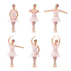 Collage posizioni danza