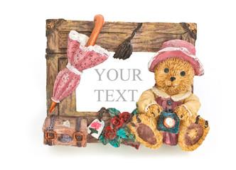 Сeramic frame with a bear