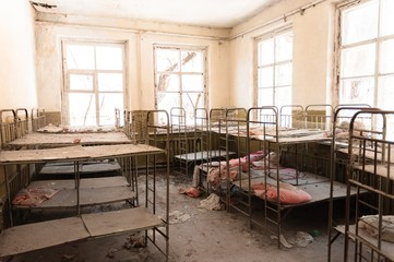 Abandoned nursery at Chernobyl