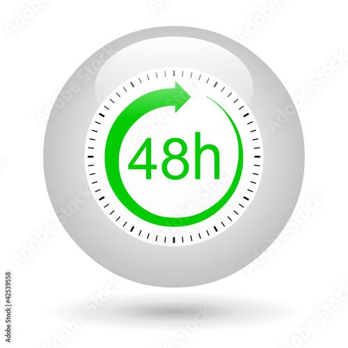 Bouton ic ne 48 heures photo libre de droits sur la for Dans 48 heures