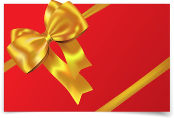 Golden ribbon with bow