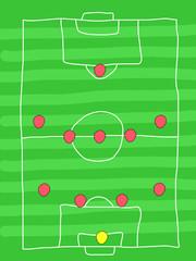 Football formation - 4-5-1