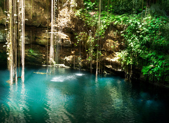 Photo sur Plexiglas Mexique Ik-Kil Cenote, Chichen Itza, Mexico