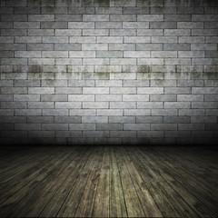 brick wall floor