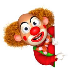 Wall Murals Sweet Monsters 3d clown