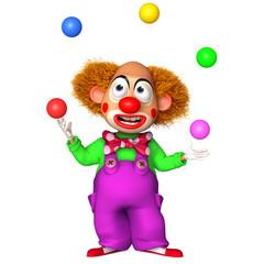 Spoed Fotobehang Sweet Monsters cartoon clown
