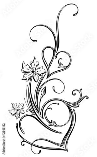 Filigrane Herzen Elegant Ranke Liebe Valentinstag Stock Image