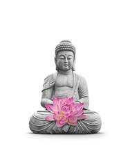 Fototapete - Bouddha et Meditation