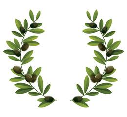 Black olive wreath