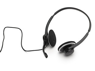 headset on a white background