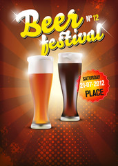 Vector beer festival poster - place for your text