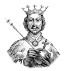 Portrait : Medieval King - 14th century