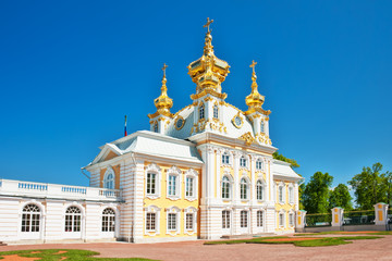 church of grand palace in peterhof