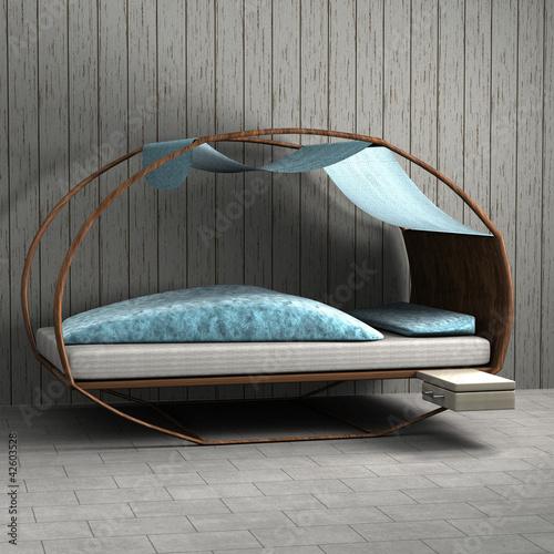 schlafzimmer mit rundem bett stockfotos und lizenzfreie. Black Bedroom Furniture Sets. Home Design Ideas