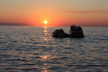 Puesta de sol desde Little Venice, Mykonos