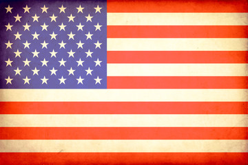 Grunge flag of the United States of America