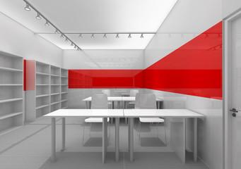 3D office room interior