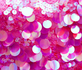 Pink sequins pattern texture background