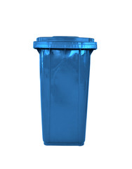 plastic garbage bin isolated