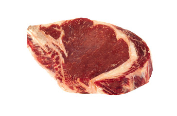 Raw meat isolated on the white