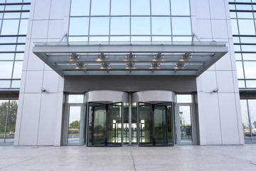 Business building entrance