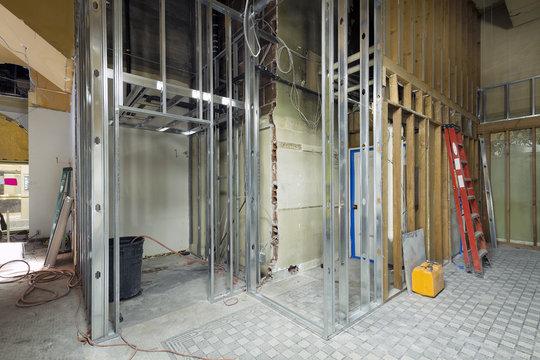 Commercial Space Metal Stud Framing