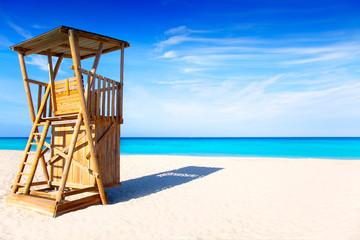 Formentera Llevant beach lifeguard house