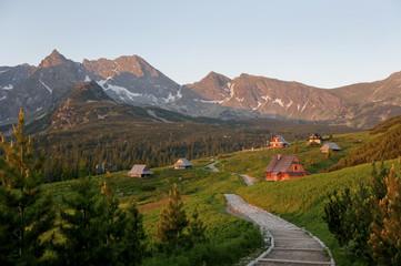 Fototapeta Polish Tatra mountains hala gąsienicowa