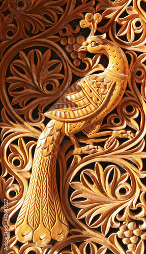 Quot phoenix wood carving stock photo and royalty free