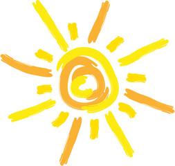 Sonne, gezeichnet, Sun, Logo, Vektor