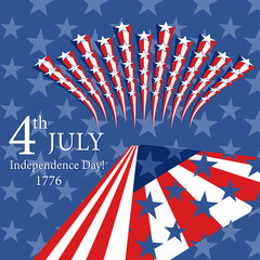 Happy Independence Day! Can be use as card, poster and flayer