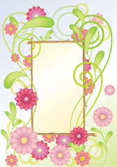floral frame with flowers