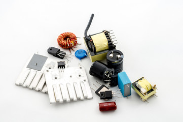 Several electric parts