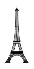 eiffel tower rendered in BW from 3d model