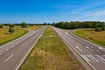 asphalt road landscape