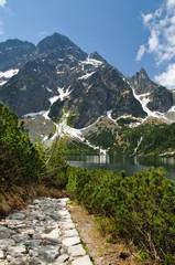Fototapete - Polish Tatra Mountains Morskie Oko lake, Poland