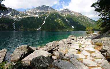 Fototapete - Morskie Oko lake in Polish Tatra mountains