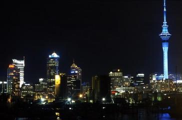 Auckland City Night View